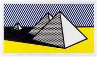 pyramids by roy lichtenstein