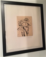 untitled (lithograph from seventeen lithographs for frank o'hara) by willem de kooning