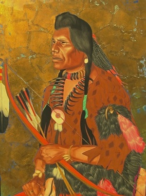 night shoots, a blackfeet brave by william langdon kihn