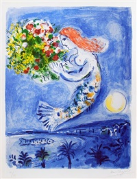 la baie des anges (the bay of angels) by marc chagall