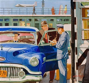 at the airport by austin briggs