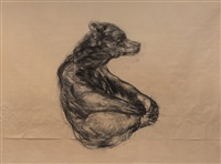 untitled (sitting bear) by nicola hicks