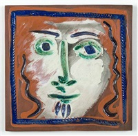 visage aux cheveux bouclés (curly haired face) by pablo picasso