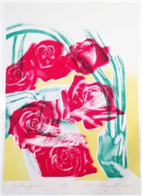 dusting off roses by james rosenquist