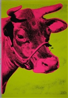 pink cow (june 13, 1971 on left diagonal) by andy warhol