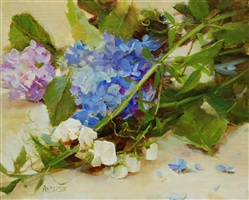 sweet pea study by kathy anderson