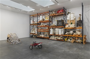 jason rhoades: pearoefoam, 2014 exhibition view
