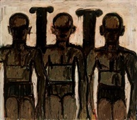milford bathers, silhouette by lester f. johnson