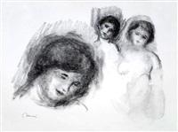 la pierre au trois croquis (the stone with three sketches) by pierre-auguste renoir