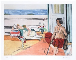 odalisque sur la terrasse (odalisque on the terrace) by henri matisse