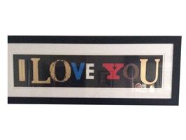 """i love you (black gloss)"" by peter blake"