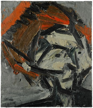 portrait of gerda boehm by frank auerbach
