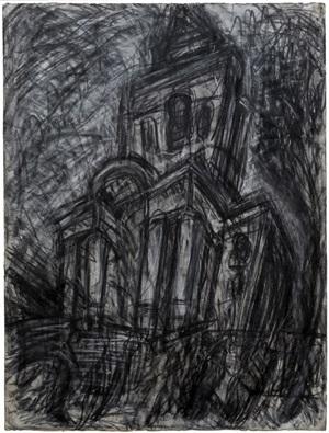 christ church, spitalfields by leon kossoff