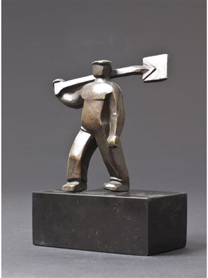 man with shovel from the city and the people series by saul baizerman