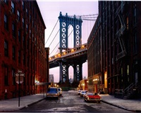 manhattan bridge at dumbo by luca campigotto