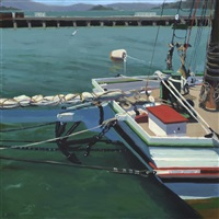 bridge with stern of boat by eileen david