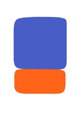 blue over orange by ellsworth kelly