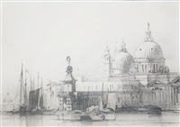 view of the salute and of customs point in venice by richard parkes bonington