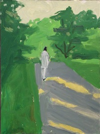 vincent walking by alex katz