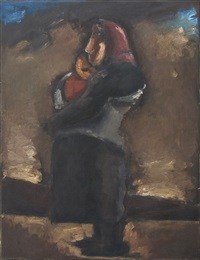 mother and child by josef herman