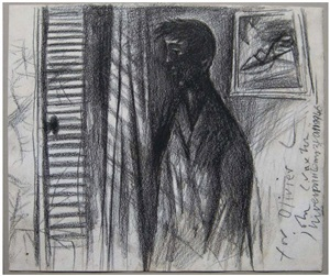 self-portrait at a window by john craxton