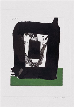 """untitled number 8, from the """"basque suite"""" by robert motherwell"""