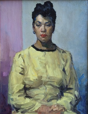 portrait of a woman in yellow by david wu ject-key