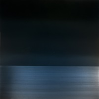 winter blue reflection by miya ando