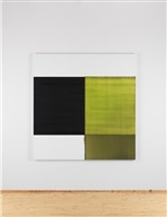exposed painting green lake by callum innes