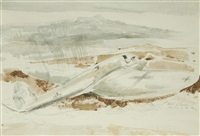 the raider on the moors by paul nash