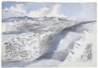 stone sea by paul nash