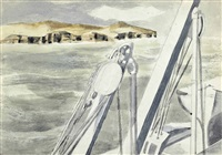 coast near gibraltar by paul nash