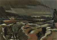 shellburst, zillebeke by paul nash