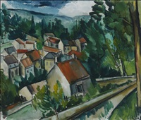 village in normandy by maurice de vlaminck