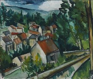 village in normandy by maurice de vlaminck