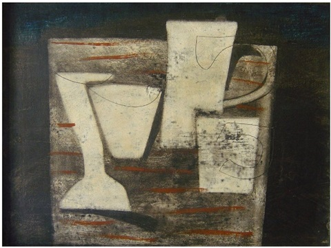 may 1955 (carved forms and indigo) by ben nicholson