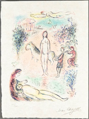 frontispiece from l'odyssée by marc chagall