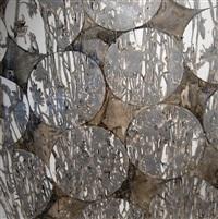 katagami series: silver cornflower over circles by katina huston