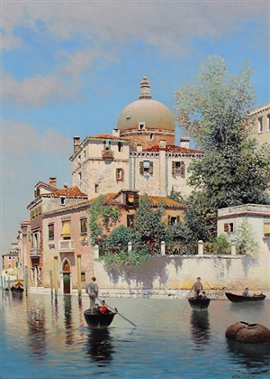 venetian gondoliers by henry pember smith
