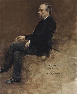 portrait of hippolyte taine by jean béraud