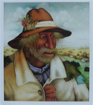 portrait eines bauern by mijo kovacic