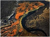 tri- ranga river, iceland by edward burtynsky