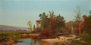 autumn river view by hugh bolton jones
