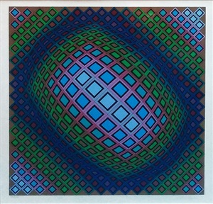 unknown title by victor vasarely