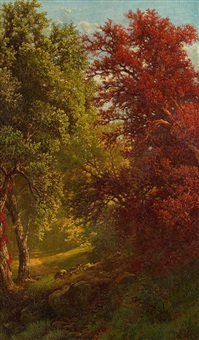 autumn woods by william mason brown