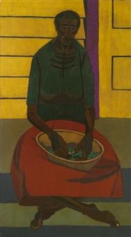 shelling peas by robert gwathmey