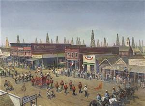 armistice day parade of 1922, mexia, texas by john philip falter