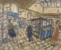 inside kilburn underground, summer 1983 by leon kossoff