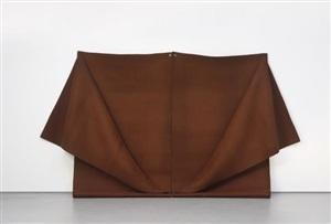 untitled (brown felt) by robert morris