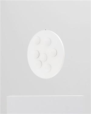 zweiseitiges spielobjekt mit halbkugeln by gerhard von graevenitz